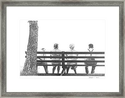 Together Yet Alone Framed Print by Michael Swanson
