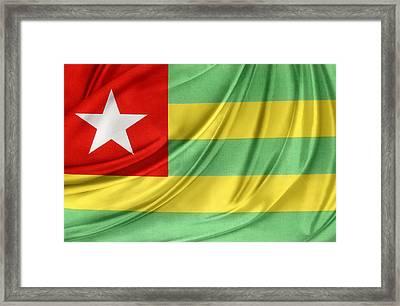 Togo Flag Framed Print by Les Cunliffe