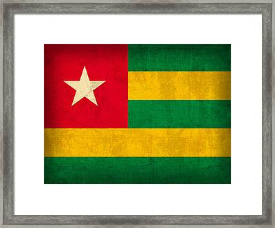 Togo Flag Vintage Distressed Finish Framed Print by Design Turnpike