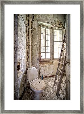 Toilet Escape Abandoned Places Framed Print