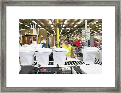 Toilet Factory Framed Print