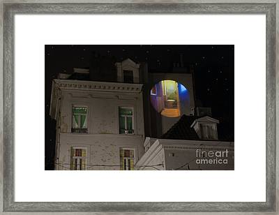 Toilet In Technicolor Framed Print by Juli Scalzi