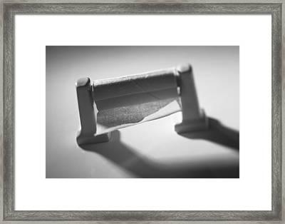 Toilet Paper Roll On Dispenser Framed Print