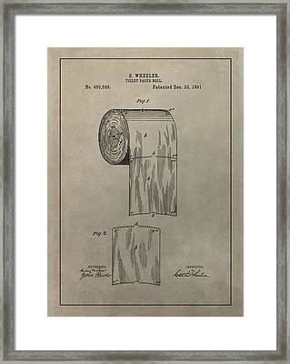 Toilet Paper Roll Patent Framed Print