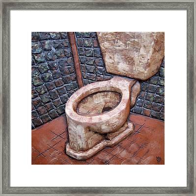 Toilet Stories #6 Framed Print by Carlos Enrique Prado