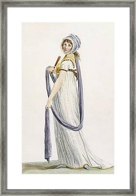 Toilette Demi-habillee, Illustration Framed Print