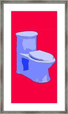 Toilette In Blue Framed Print