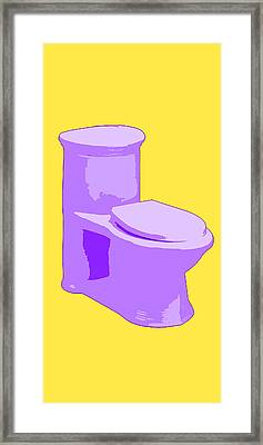 Toilette In Purple Framed Print