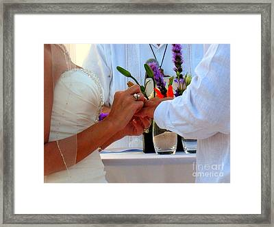 Token Of Love In The Islands Framed Print by Patti Whitten