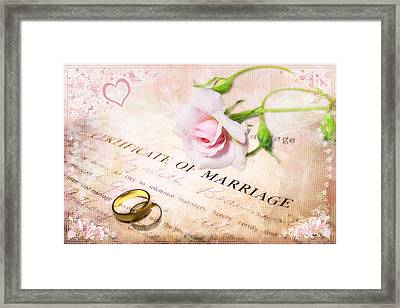Tokens Of Love Framed Print by Linda Lees
