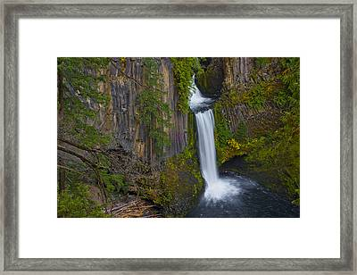 Toketee Falls Landscape Framed Print by Loree Johnson
