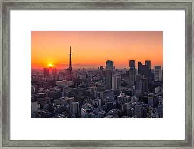Tokyo 10 Framed Print by Tom Uhlenberg
