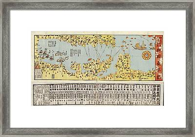 Tokyo Bay Coastal Defences Framed Print by Library Of Congress, Geography And Map Division