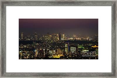 Tokyo City Skyline Framed Print by Fototrav Print