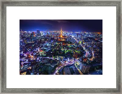 Tokyo Dreamscape Framed Print by Midori Chan
