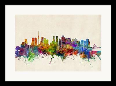 Tokyo Skyline Framed Prints