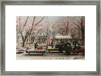 Tokyo Park Circa 1910 Framed Print