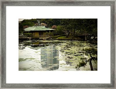 Tokyo Reflection Framed Print