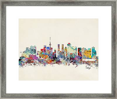 Tokyo Skyine Framed Print by Bri B