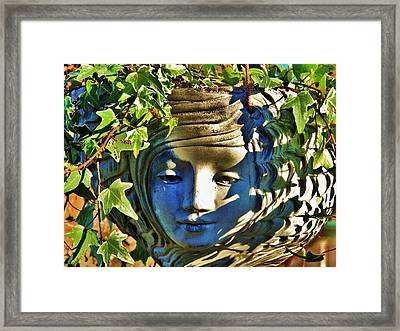Told In A Garden Framed Print by Helen Carson