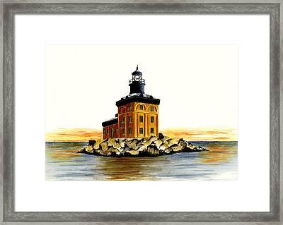 Toledo Harbor Lighthouse Framed Print by Michael Vigliotti
