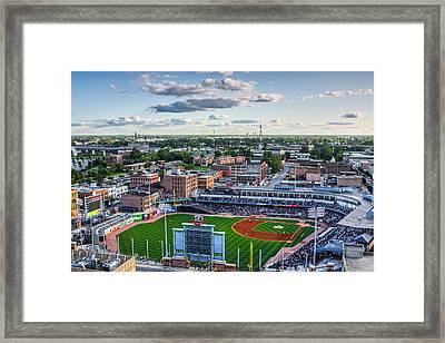 Toledo Mud Hens Home Game Framed Print