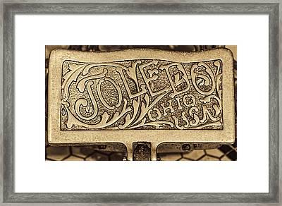 Toledo Ohio Usa Art Gold Framed Print by LeeAnn McLaneGoetz McLaneGoetzStudioLLCcom