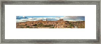 Toledo Panorama Framed Print by Jennifer Grover