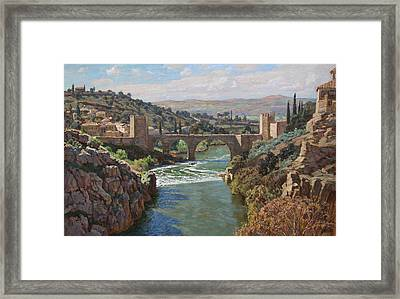 Toledo. San-martin Bridge Framed Print by Korobkin Anatoly
