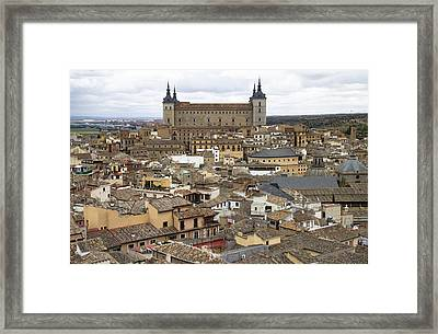 Framed Print featuring the photograph Toledo Spain Cityscape by Nathan Rupert
