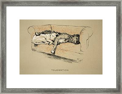 Toleration, 1930, 1st Edition Framed Print by Cecil Charles Windsor Aldin