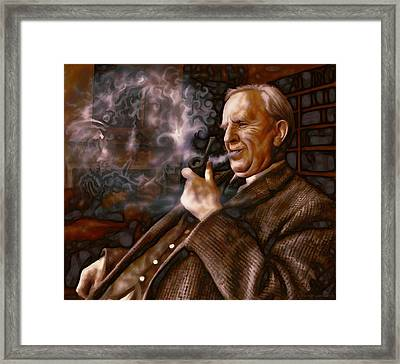 Framed Print featuring the painting Tolkien Daydreams by Dave Luebbert