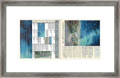 Tolkien Hobbit Sr/ad Inside The Elvenking's Gate  Small Grid More Detail Framed Print by Glen McDonald