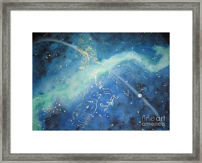 Tolkien Hobbit  While Tom Whacked At Them Both Framed Print by Glen McDonald