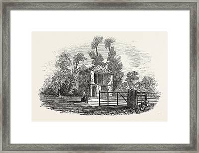 Toll House, Near Gloucester, Struck Ry Lightning Framed Print by English School