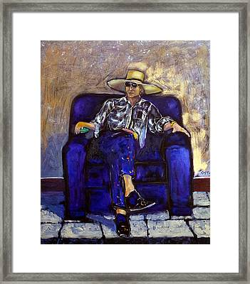 Toller Cranston In Mexico Framed Print by Andrew Osta