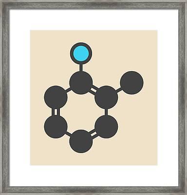 Toluidine Molecule Framed Print by Molekuul