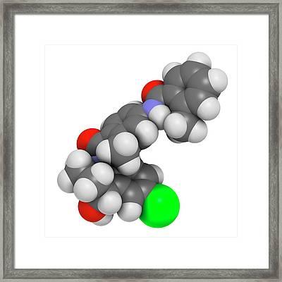 Tolvaptan Hyponatremia Drug Molecule Framed Print by Molekuul
