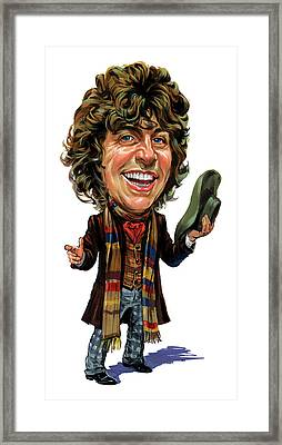 Tom Baker As The Doctor Framed Print by Art