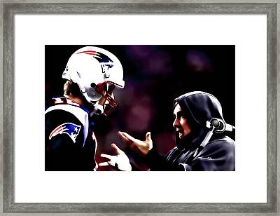 Tom Brady And Coach Framed Print by Brian Reaves