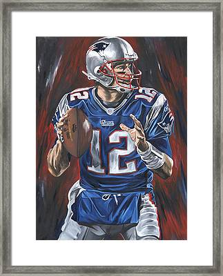 Tom Brady Framed Print by David Courson