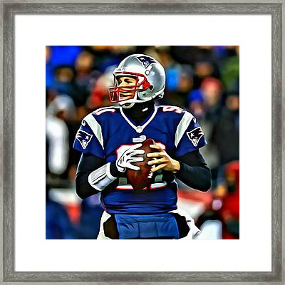 Tom Brady Framed Print by Florian Rodarte