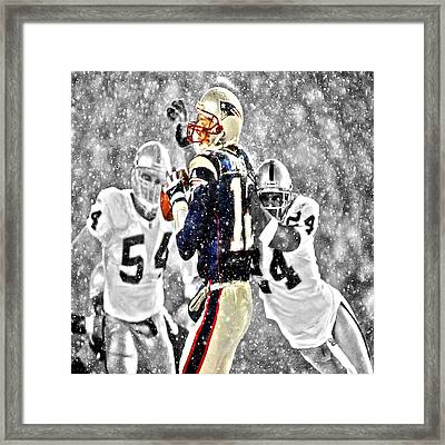 Tom Brady Under Pressure II Framed Print