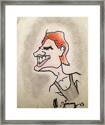 Tom Cruise Caricature Framed Print by Mario  Jimenez