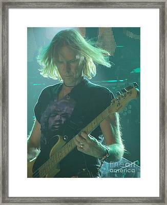 Framed Print featuring the photograph Tom Hamilton On Guitar by Jeepee Aero