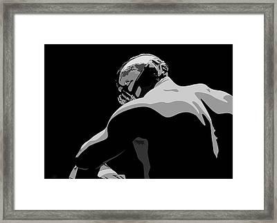 Tom Hardy As Bane From Batman The Dark Knight Rises Framed Print by Paul Dunkel
