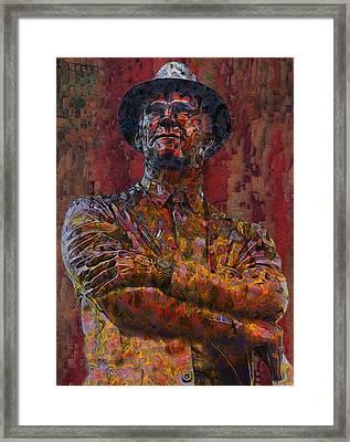 Tom Landry - The Last Cowboy Framed Print by Jack Zulli