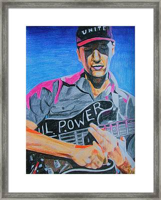 Tom Morello Framed Print by Jeremy Moore