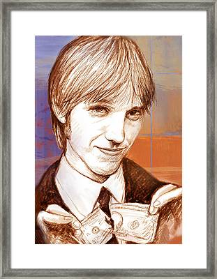 Tom Petty - Stylised Drawing Art Poster Framed Print