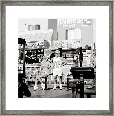 Tom Platz At Venice Beach Framed Print